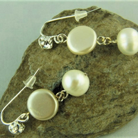 Pearl Bridal Earrings For Pierced Ears Made With Freshwater Pearls