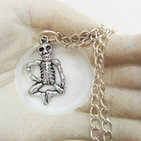 Skeleton Halloween Pendant, Skeleton Pendant, Novelty Halloween Pendant
