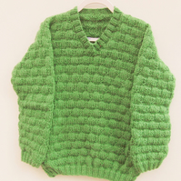 Basket Weave Patterned Child's Knitted Jumper, School Jumper, Winter Jumper
