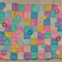 Double Sided Patchwork Baby Blanket, Baby's Coming Home Blanket