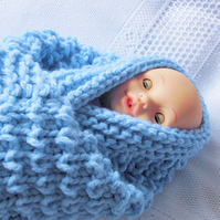 Hand Knitted Fisherman's Rib Patterned Baby Pram Blanket, Coming Home Blanket