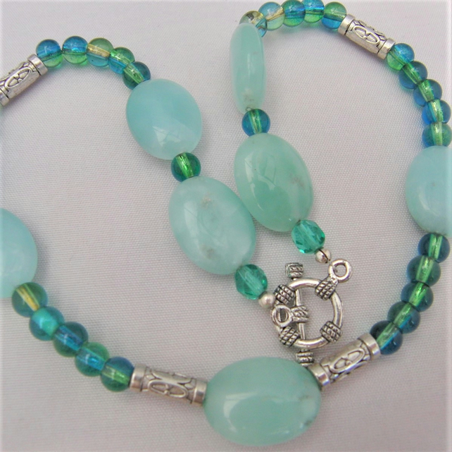 Semi Precious Green Aventurine Necklace, Jewellery Gift for Her