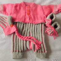 Short Sleeved All in One Baby's Romper Suit With A Cardigan, Hat and Shoes