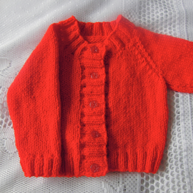 Knitted Aran Weight Cardigan for a Boy or Girl, Child's Cardigan