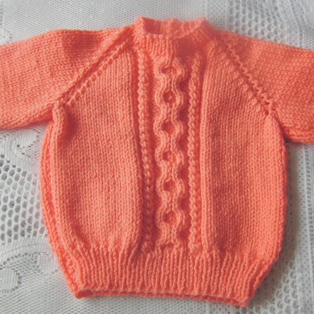 Children's Cabled Jumper Hand Knitted in Chunky Yarn, Child's Chunky  Sweate