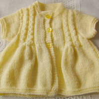 Children's Hand Knitted Cabled Cardigan, Birthday Gift
