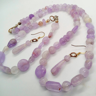 Lilac Ametrine 3 Piece Jewellery Set, Jewellery Gift for Her