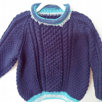Child's Cable Patterned Jumper with Roll Neck, Children's Clothes