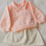 Jumper and Skirt Set for a Baby Girl, Baby Shower Gift, New Baby Gift