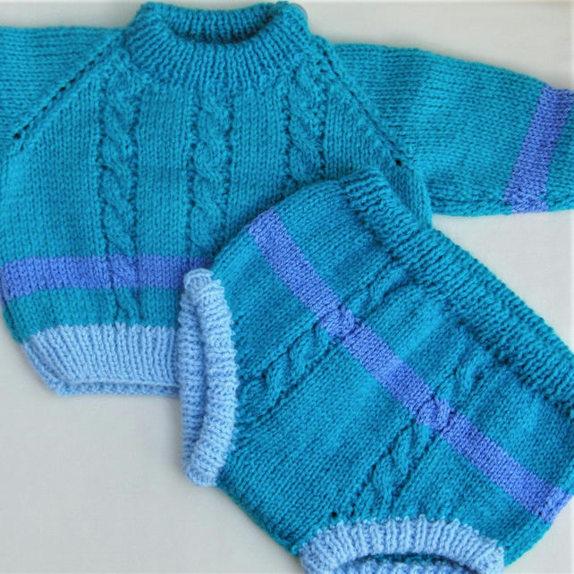 Unisex 2 Piece Baby's Jumper and Pants Set, Baby Shower Gift, New Baby Gift