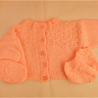 Baby Girls 3 Piece Cardigan Set, New Baby Gift, Baby Shower Gift