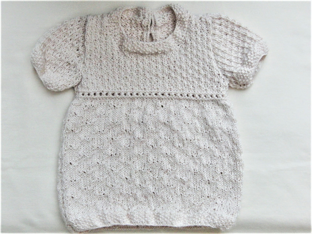 ac023722b8230 Knitted Baby Girl's Dress, Baby Shower Gift, Ne... - Folksy
