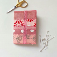Machine Embroidered Pink Needle Case