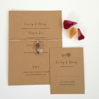 Lace key tag wedding invitation