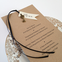 Rustic Key Menu