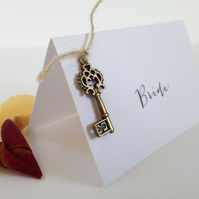 Hanging Key Wedding Place Cards