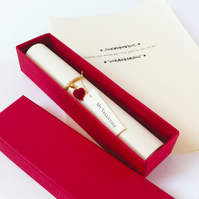 Swarovski crystal Valentine's scroll