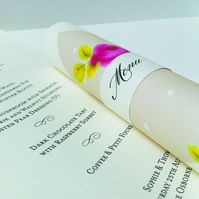 Rose Menu Scrolls