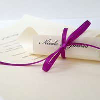 Wedding Order of Day Scrolls