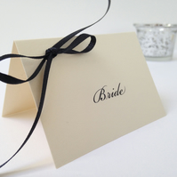 Bow Wedding Place Cards