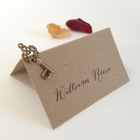 Key Wedding Place Cards