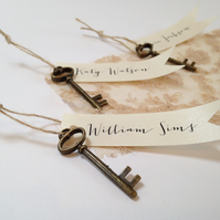 Key Tag Wedding Place Cards