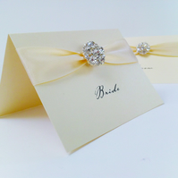 Maia Crystal Wedding Place Card
