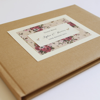 Rustic Rose Wedding Guest Book