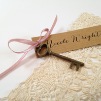 Key & Bow Wedding Place Cards