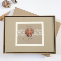 Beach Theme Wedding Guest Book