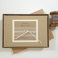 Rustic Lace Wedding Guest Book