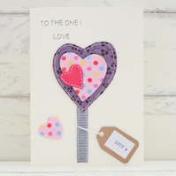 To The One I Love Card - Personalised