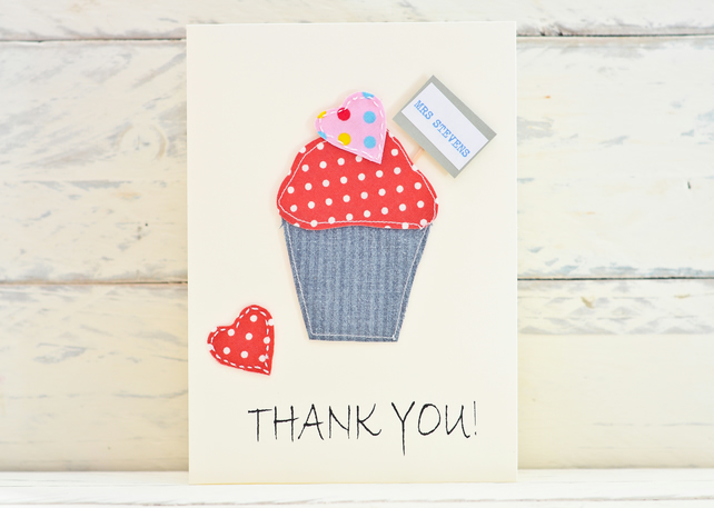 Thank You Card - Cupcake - Personalised