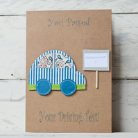 Passed driving test card - personalied