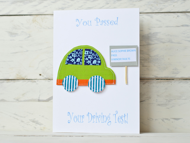 You passed your driving test card - personalised
