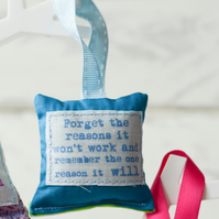 Single miniature hanging decoration- special quotes