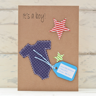 New Baby Boy Card - Personalised