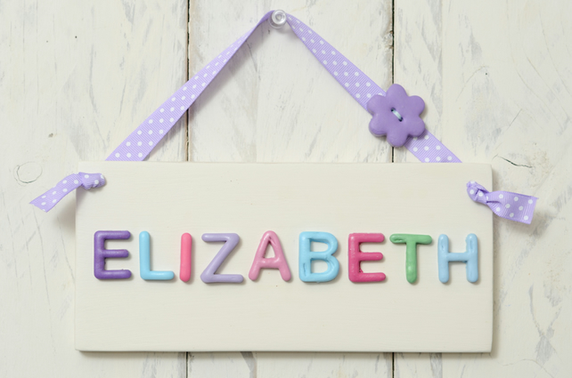Personalised Girl's Bedroom Door Plaque - Purple & Pink