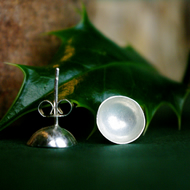 Silver Acorn Cup Studs