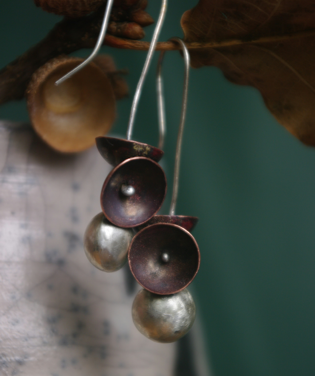 Autumn  Acorn Cup  Earrings