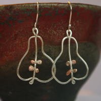 Pear Dangle Earrings for the First Day of Christmas