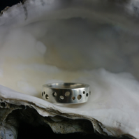 Chunky Silver Ring with Holes