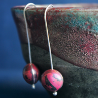 Copper Berry Dangle  Earrings