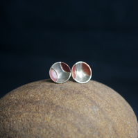 Copper and Silver Cup Studs
