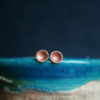 Small Copper Cup Studs
