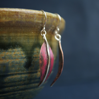 Autumn Copper Leaf Dangle Earrings