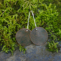 Large Mossy Circle Dangle Earrings