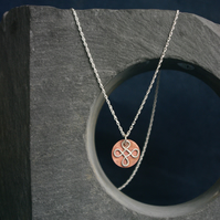 Silver and Copper Celtic Necklace