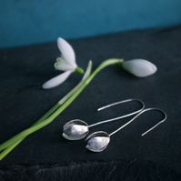 41963b97d Love this item · Silver Snowdrop Long Dangle Earrings