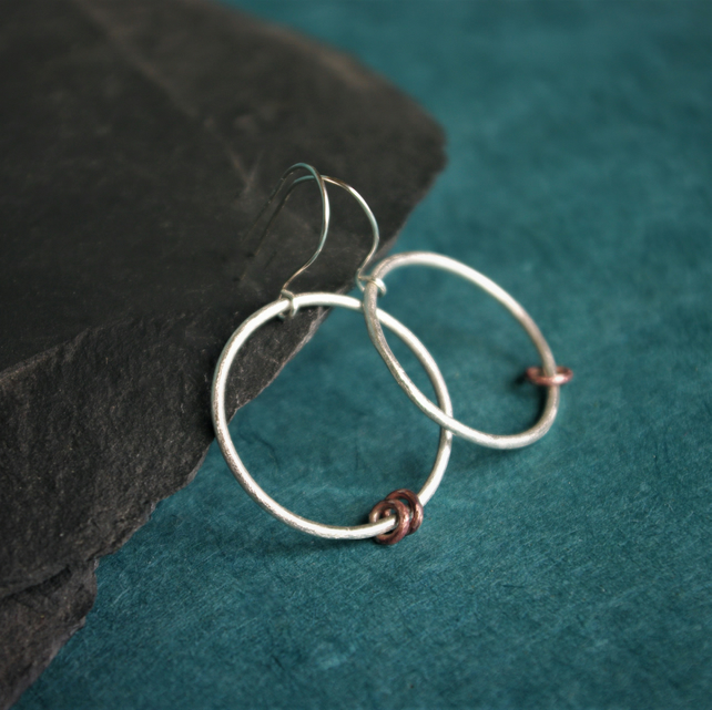 5acb6dbce9b Silver Dangle Hoop Earrings